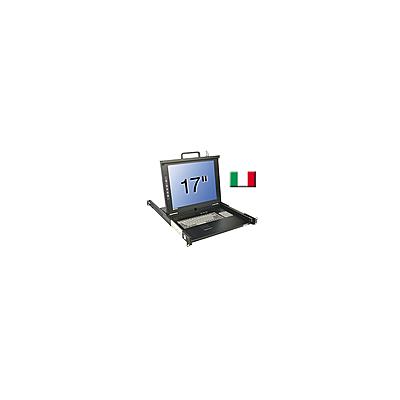 "Console KVM LCD 17"" Single Rail, clavier IT"