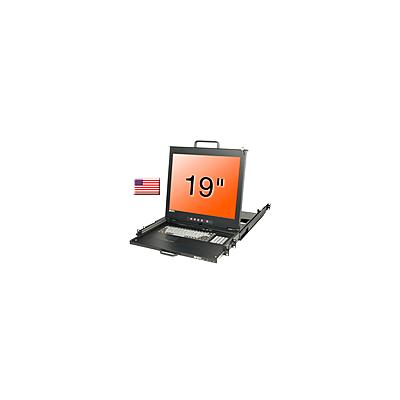 "Console KVM LCD 19"" Dual Rail, clavier US"