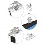Support Tubulaire - GP Screen - Pour écrans Major Pro-C / FlatMax / Compact / Major