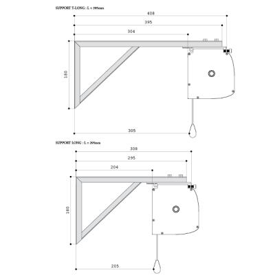 equerres d 39 cartement gp screen pour cran de projection. Black Bedroom Furniture Sets. Home Design Ideas