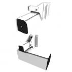 Support pour Plafond Incliné - GP Screen - Pour Carters d'Ecrans Compatibles et Ascenseur d'Ecran